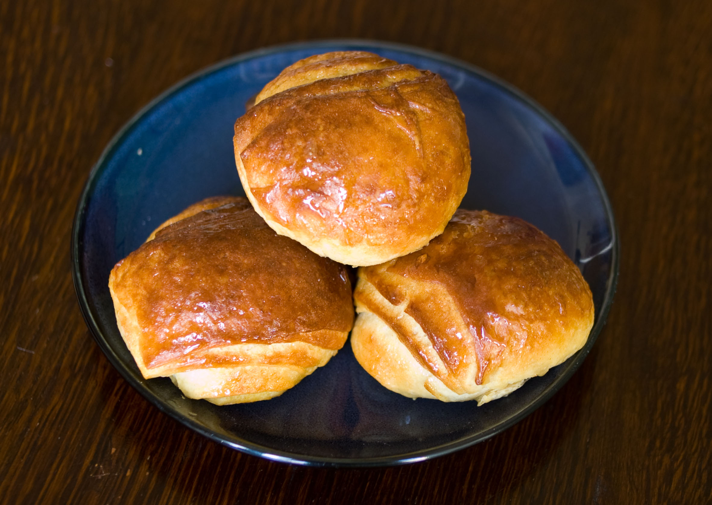 These buns were made to resemble one of the popular Japanese Kobitos characters and gush milk custard when squeezed